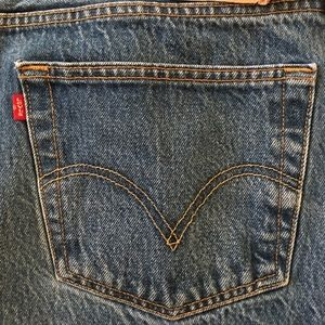 MENS LEVI'S ORIG 501 STRAT LEG BUTTON FLY SZ 46X34